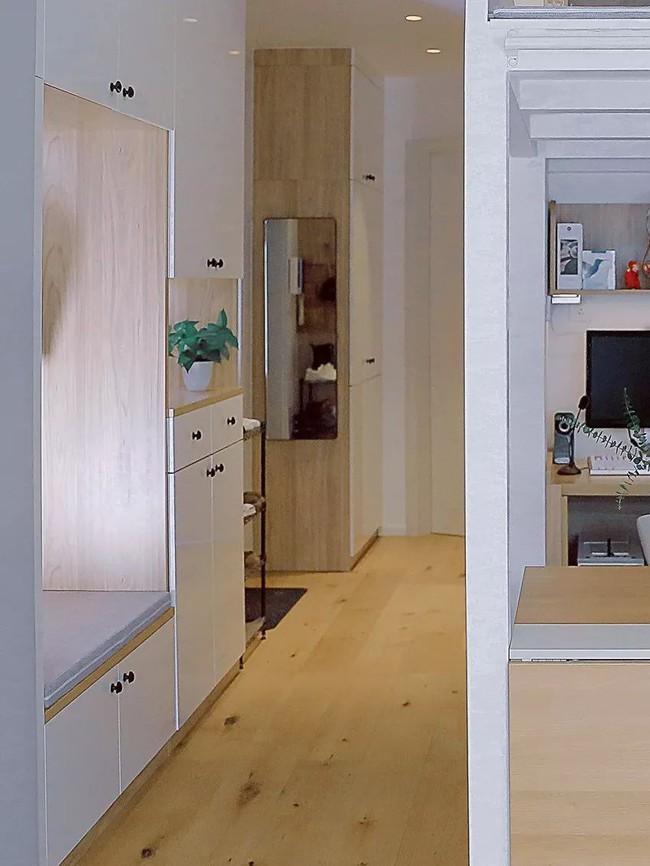 Căn hộ 48m² hẹp và dài gây ấn tượng với thiết kế mở có thể ở đến 6 người  - Ảnh 2.