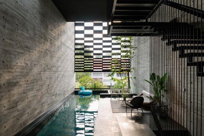 Ngôi nhà có mặt tiền lọc ánh sáng và không khí, tạo môi trường trong lành, sạch sẽ cho người sống trong nhà - Ảnh 4.