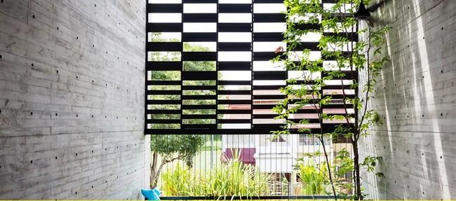 Ngôi nhà có mặt tiền lọc ánh sáng và không khí, tạo môi trường trong lành, sạch sẽ cho người sống trong nhà - Ảnh 2.