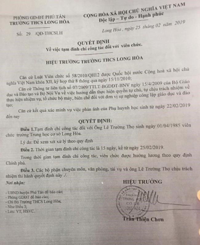 Bộ GD&ĐT yêu cầu xác minh vụ thầy giáo đánh học trò nhập viện - Ảnh 1.