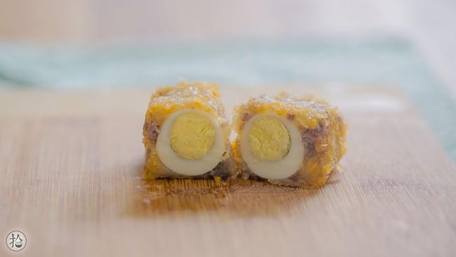 Chỉ thêm 1 nguyên liệu này món thịt bọc trứng cút đã giòn ngon hơn gấp bội - Ảnh 4.