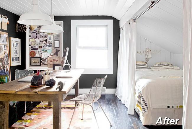 Những ý tưởng hoàn hảo để cải tạo phòng ngủ tầng áp mái - Ảnh 12.