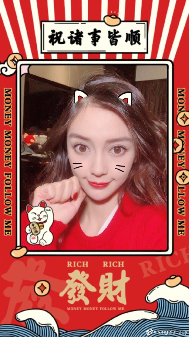 Những lời chúc nhuộm đỏ Weibo mùng 1 Tết của Angela Baby, Dương Mịch cùng dàn sao đình đám Cbiz - Ảnh 1.