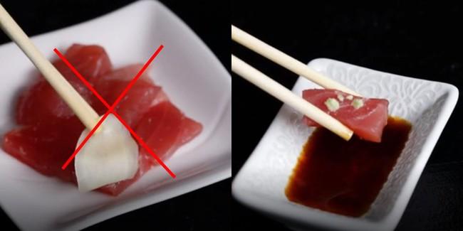 Vào nhà hàng mà mắc những sai lầm này khi ăn sushi thì thật kém sang! - Ảnh 3.