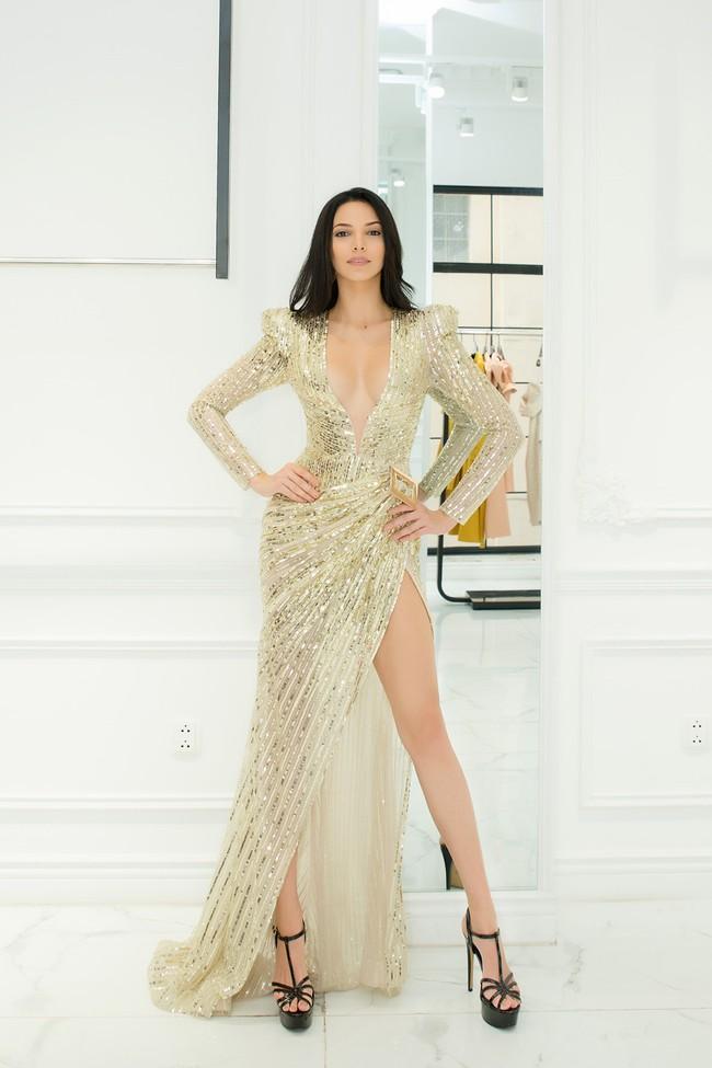 Diện váy xuyên thấu, Hoa hậu Siêu quốc gia 2018 khoe đường cong gợi cảm khi ở Việt Nam  - Ảnh 3.