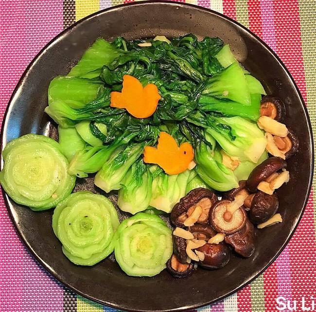 Ngưỡng mộ sự sáng tạo của 8x Hà Nội xếp các loại rau củ quen thuộc thành hình siêu xinh - Ảnh 3.
