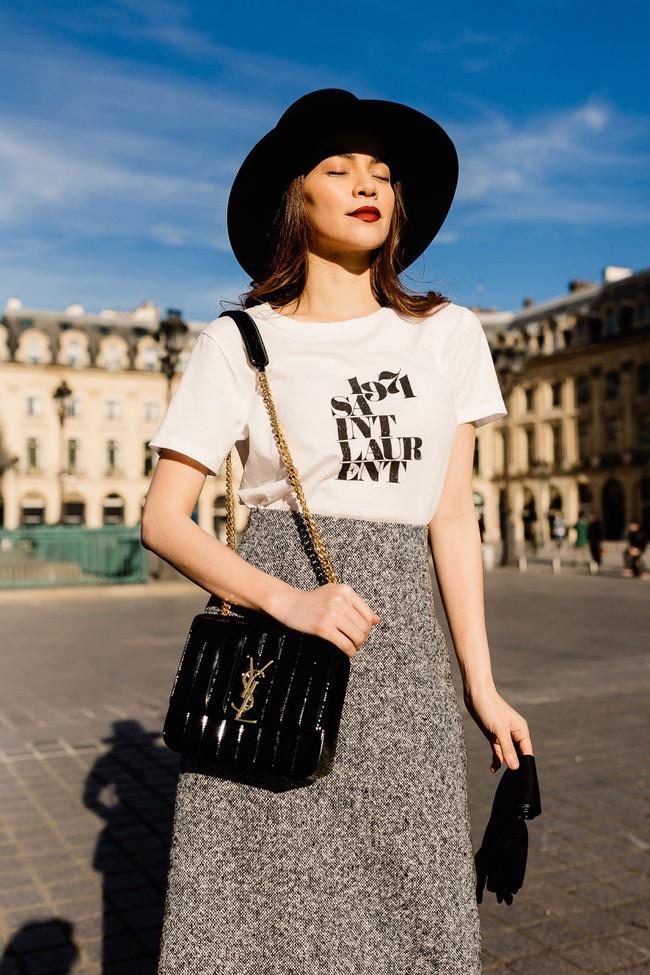 Bỏ quên nội y Hồ Ngọc Hà hóa quý cô sành điệu giữa đường phố Paris - Ảnh 8.