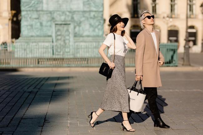Bỏ quên nội y Hồ Ngọc Hà hóa quý cô sành điệu giữa đường phố Paris - Ảnh 1.