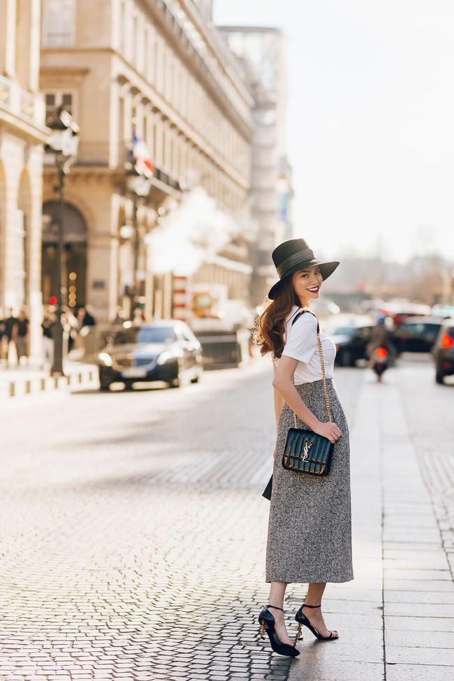 Bỏ quên nội y Hồ Ngọc Hà hóa quý cô sành điệu giữa đường phố Paris - Ảnh 10.