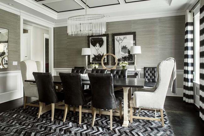 Chiêm ngưỡng vẻ đẹp thanh lịch hút hồn của những căn phòng ăn màu cơ bản - Ảnh 3.