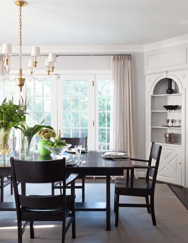 Chiêm ngưỡng vẻ đẹp thanh lịch hút hồn của những căn phòng ăn màu cơ bản - Ảnh 4.