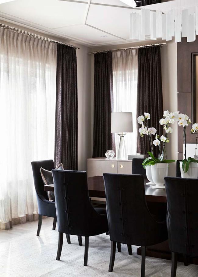 Chiêm ngưỡng vẻ đẹp thanh lịch hút hồn của những căn phòng ăn màu cơ bản - Ảnh 5.