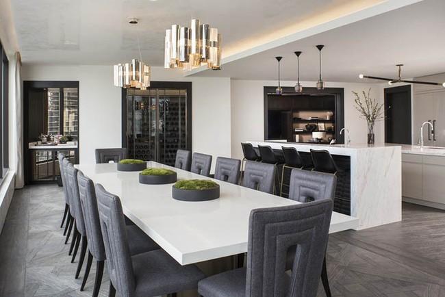 Chiêm ngưỡng vẻ đẹp thanh lịch hút hồn của những căn phòng ăn màu cơ bản - Ảnh 10.