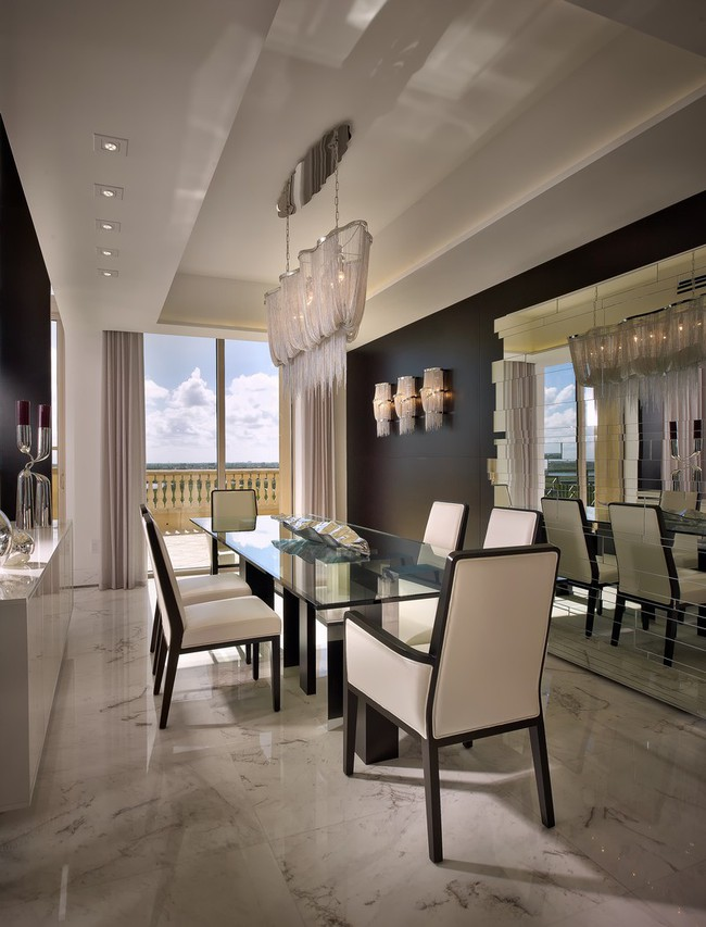 Chiêm ngưỡng vẻ đẹp thanh lịch hút hồn của những căn phòng ăn màu cơ bản - Ảnh 11.