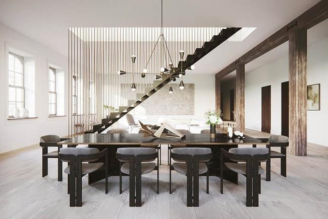 Chiêm ngưỡng vẻ đẹp thanh lịch hút hồn của những căn phòng ăn màu cơ bản - Ảnh 13.