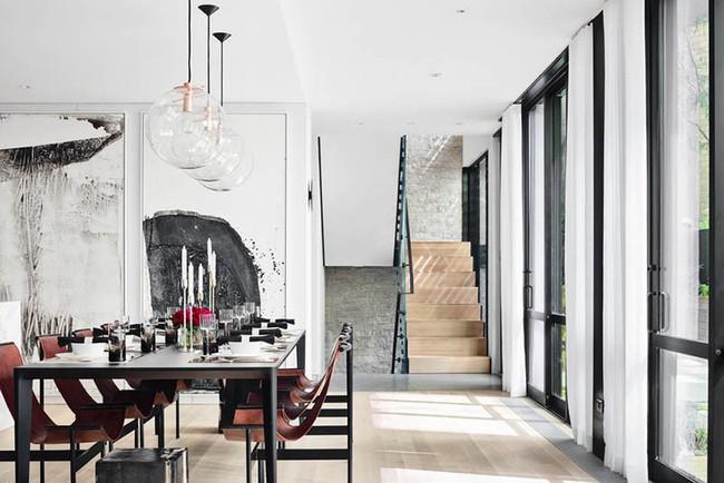 Chiêm ngưỡng vẻ đẹp thanh lịch hút hồn của những căn phòng ăn màu cơ bản - Ảnh 16.