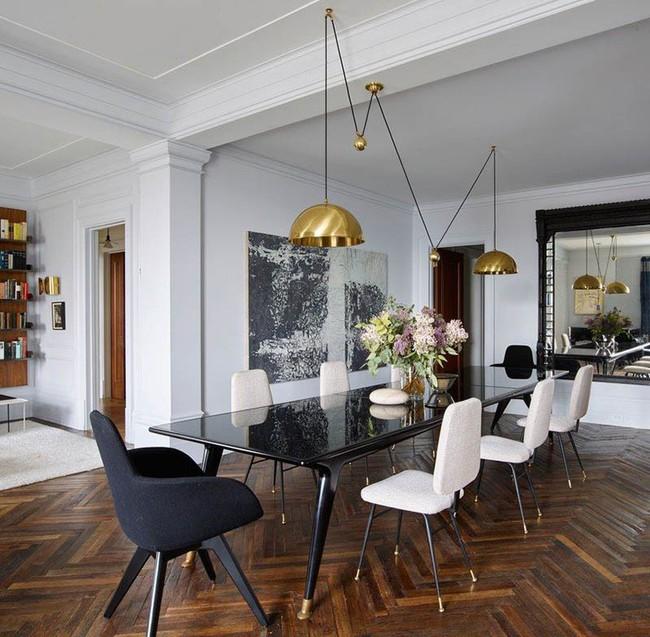 Chiêm ngưỡng vẻ đẹp thanh lịch hút hồn của những căn phòng ăn màu cơ bản - Ảnh 17.