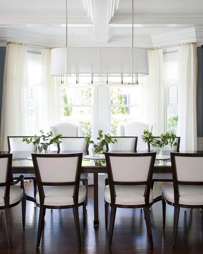 Chiêm ngưỡng vẻ đẹp thanh lịch hút hồn của những căn phòng ăn màu cơ bản - Ảnh 18.