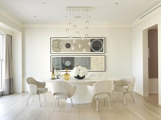 Chiêm ngưỡng vẻ đẹp thanh lịch hút hồn của những căn phòng ăn màu cơ bản - Ảnh 19.