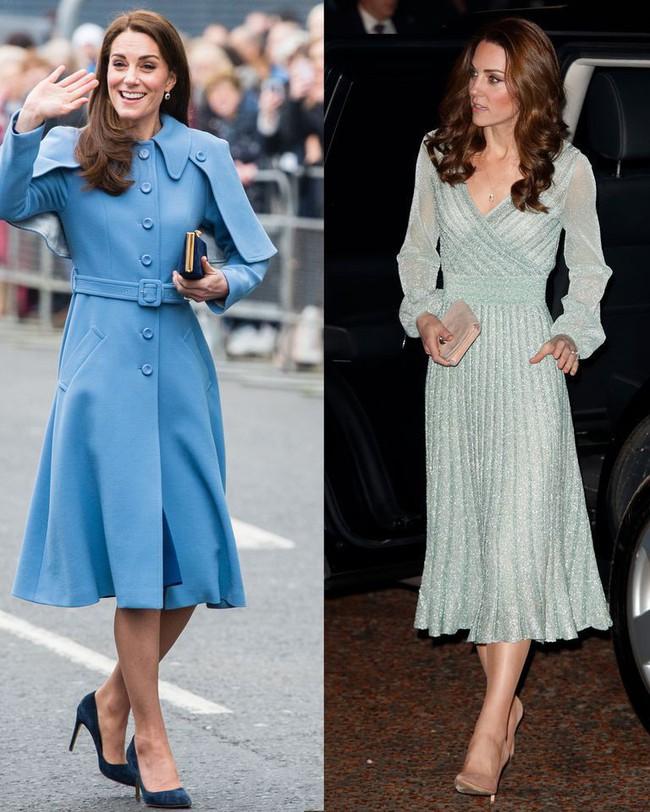 Công nương Kate vừa diện một bộ váy bí ẩn không ai tìm ra nhãn hiệu, hóa ra là học hỏi cách ăn mặc của Nữ hoàng Elizabeth - Ảnh 1.
