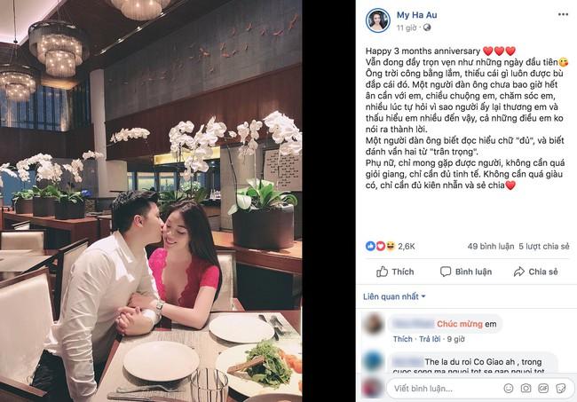 Chia tay con trai NS Hương Dung, Âu Hà My hé lộ điều chưa từng kể về người mới, đúng chuẩn bạn trai nhà người ta - Ảnh 1.