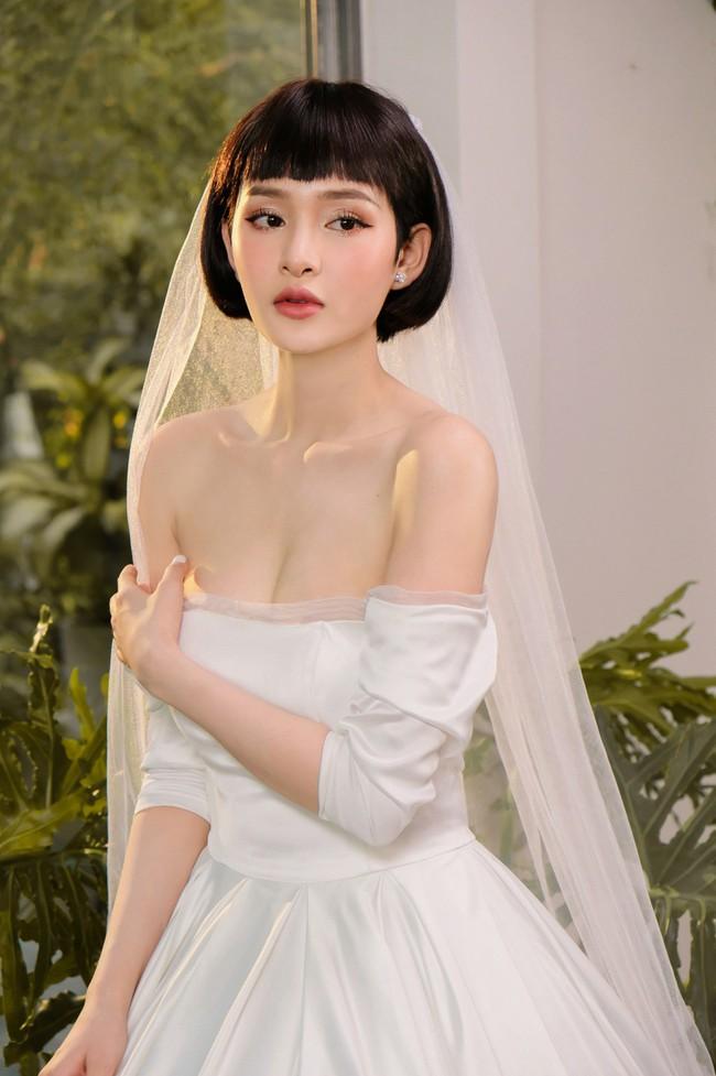 Hiền Hồ diện váy cưới xinh đẹp, trở thành cô dâu của Bùi Anh Tuấn - Ảnh 4.