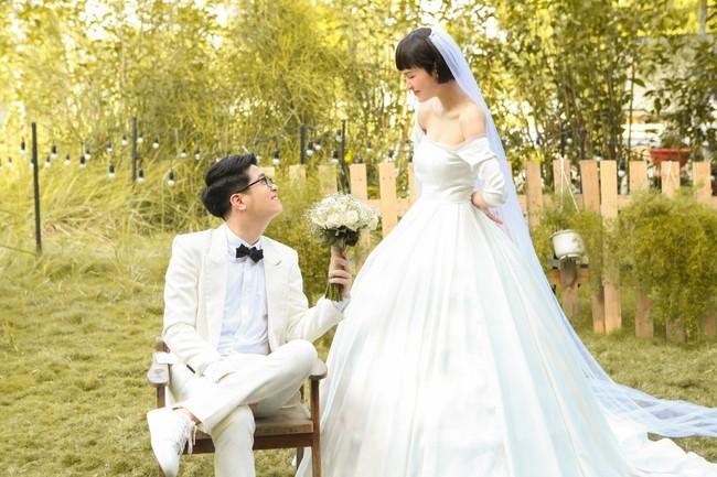 Hiền Hồ diện váy cưới xinh đẹp, trở thành cô dâu của Bùi Anh Tuấn - Ảnh 6.