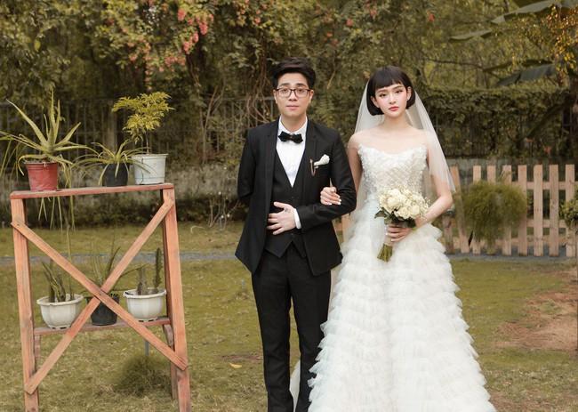 Hiền Hồ diện váy cưới xinh đẹp, trở thành cô dâu của Bùi Anh Tuấn - Ảnh 8.