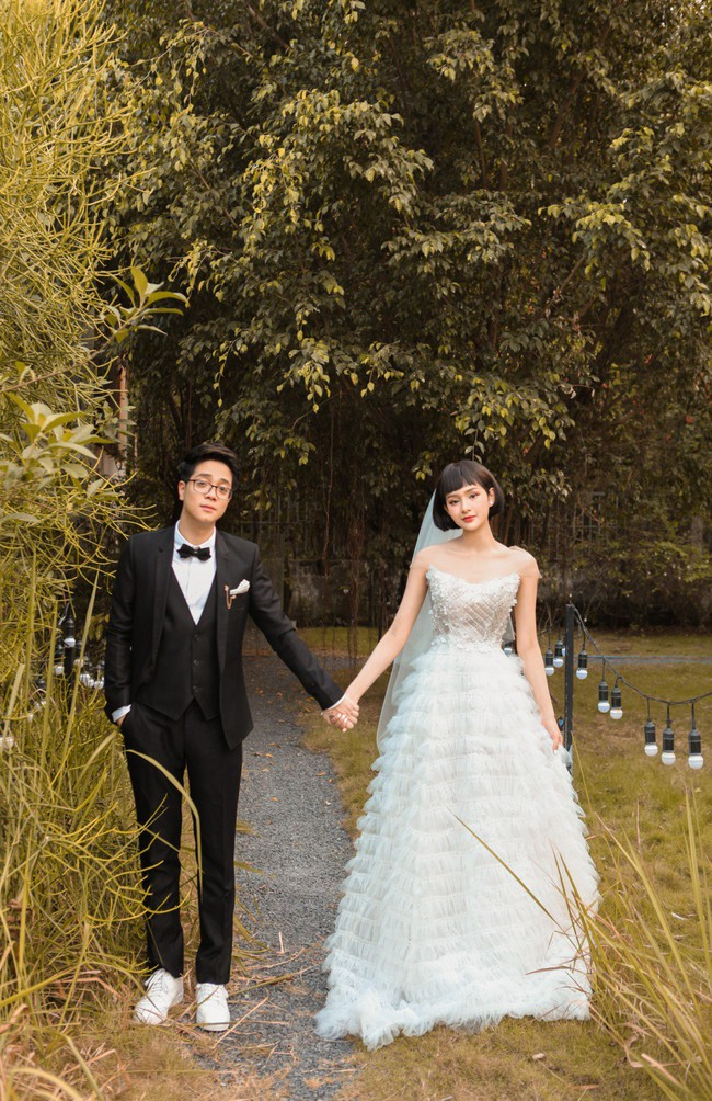 Hiền Hồ diện váy cưới xinh đẹp, trở thành cô dâu của Bùi Anh Tuấn - Ảnh 2.