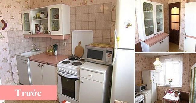 Lột xác nhà bếp nhỏ 9m2 trở nên hiện đại và sang trọng - Ảnh 1.