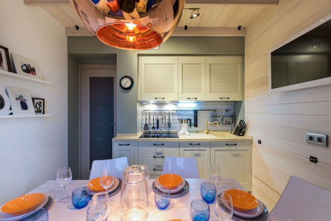 Lột xác nhà bếp nhỏ 9m2 trở nên hiện đại và sang trọng - Ảnh 3.