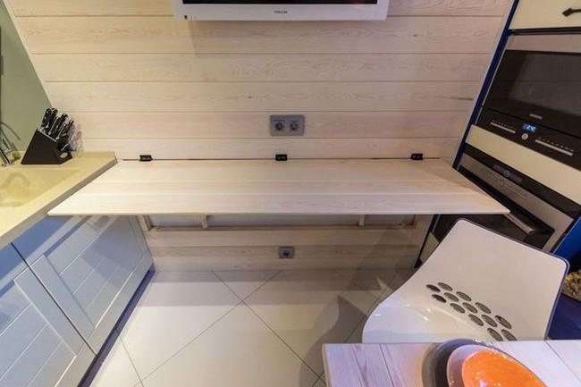 Lột xác nhà bếp nhỏ 9m2 trở nên hiện đại và sang trọng - Ảnh 7.