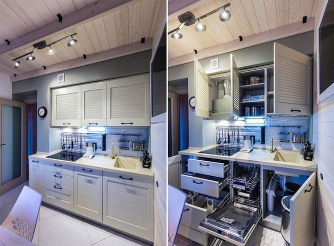 Lột xác nhà bếp nhỏ 9m2 trở nên hiện đại và sang trọng - Ảnh 8.