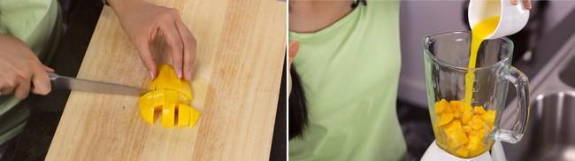 Thạch xoài hai tầng làm cực dễ, ăn ngon khỏi bàn - Ảnh 1.