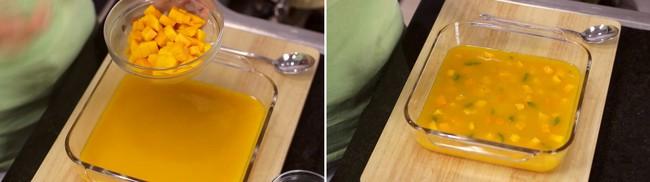 Thạch xoài hai tầng làm cực dễ, ăn ngon khỏi bàn - Ảnh 4.