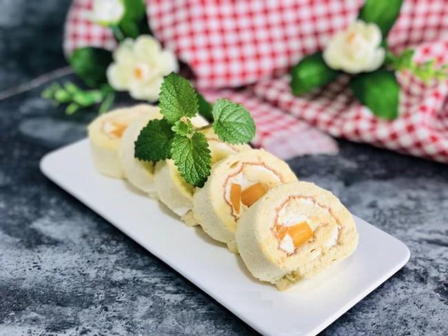 Công thức bánh bông lan cuộn xoài chuẩn ngon thơm mềm hấp dẫn - Ảnh 6.