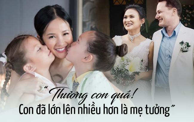 Hồng Nhung xúc động vì suy nghĩ trưởng thành của hai con sau tin bố lấy vợ mới - Ảnh 3.