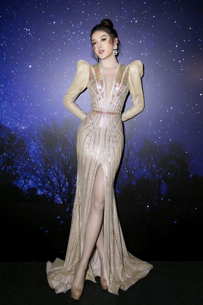 Á hậu Huyền My xinh đẹp khi đụng váy với Hoa hậu Siêu quốc gia - Ảnh 1.