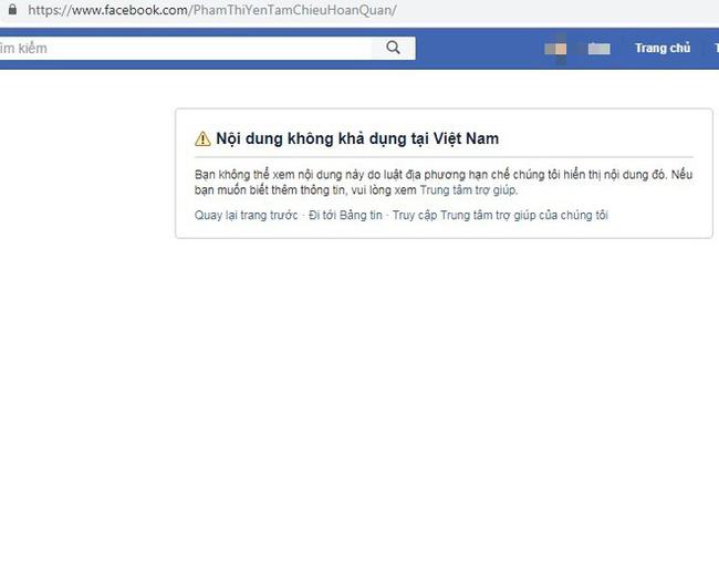 Facebook khóa 2 tài khoản của bà Phạm Thị Yến chùa Ba Vàng - Ảnh 1.