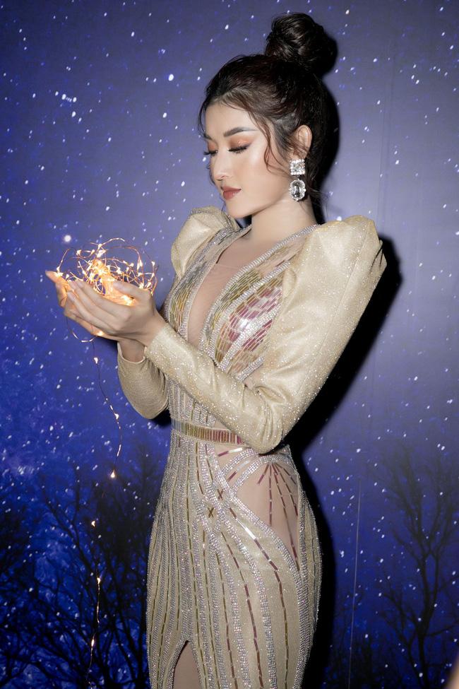 Á hậu Huyền My xinh đẹp khi đụng váy với Hoa hậu Siêu quốc gia - Ảnh 2.