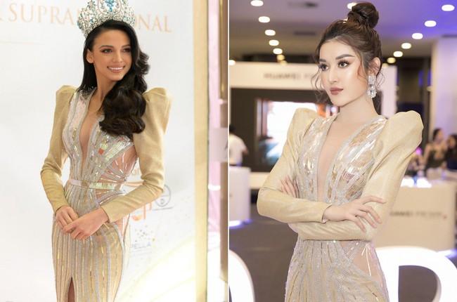 Á hậu Huyền My xinh đẹp khi đụng váy với Hoa hậu Siêu quốc gia - Ảnh 4.