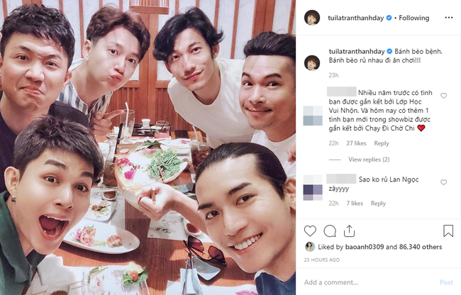 Trấn Thành đăng ảnh đi ăn cùng dàn sao Running Man, ai cũng tươi cười đấy nhưng sao caption lại sai sai thế này - Ảnh 1.