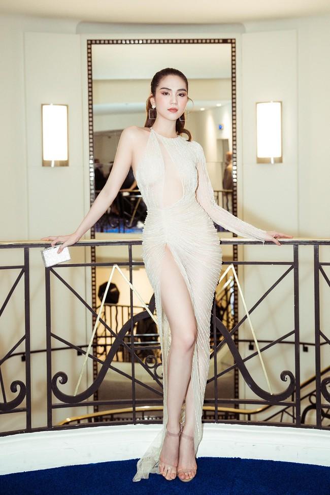 Ngọc Trinh diện váy áo mỏng tang lộ cả bầu ngực gợi cảm tại Cannes 2019  - Ảnh 12.