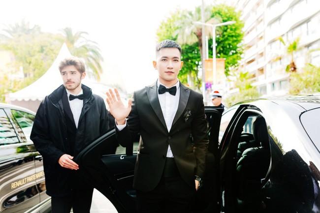Sau Ngọc Trinh, tình tin đồn một thời của Angela Phương Trinh - Võ Cảnh điển trai trong lần đầu xuất hiện trên thảm đỏ LHP Cannes - Ảnh 3.