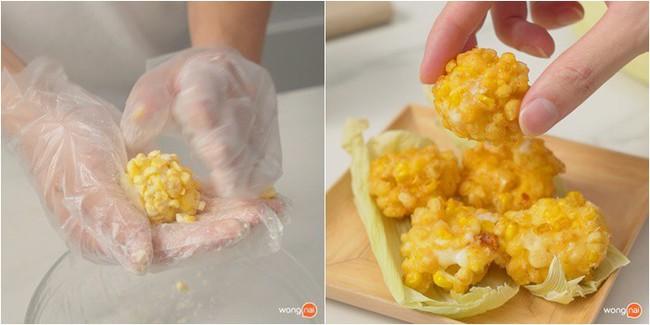 Món ngon cho bé: Bánh bắp chiên nóng hổi giòn thơm - Ảnh 4.