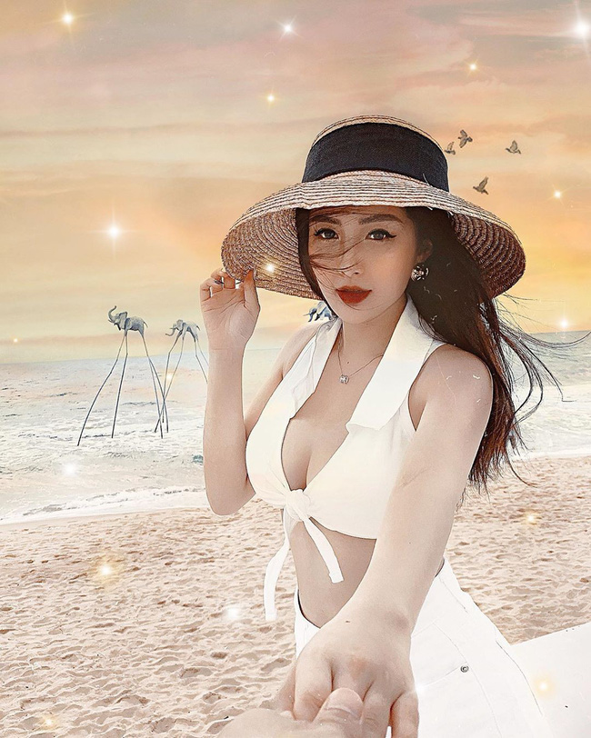 Dư Hàng My - em họ Hương Tràm đang thắng thế trong cuộc chiến bikini hè này với body nóng bỏng miễn bàn dù chỉ cao 1m53 - Ảnh 2.