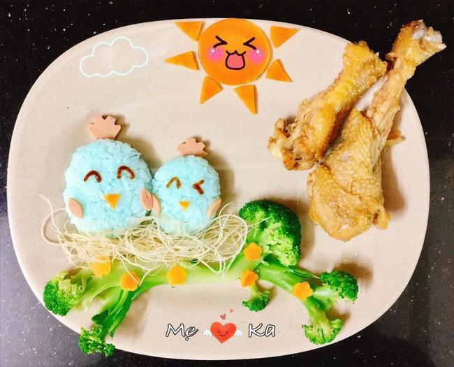 Thán phục những bữa ăn cực đẹp mẹ trẻ làm cho con trai, chị em bất ngờ hơn nữa khi biết thời gian thực hiện - Ảnh 3.