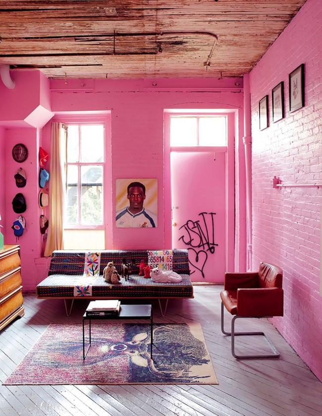 Những mẫu phòng khách màu hồng khiến bạn lúc nào cũng muốn về nhà - Ảnh 2.