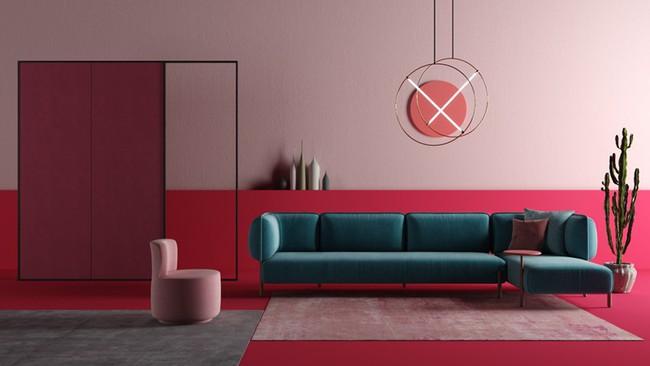 Những mẫu phòng khách màu hồng khiến bạn lúc nào cũng muốn về nhà - Ảnh 4.