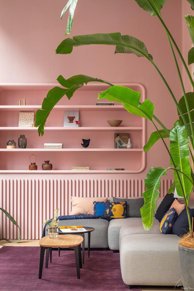Những mẫu phòng khách màu hồng khiến bạn lúc nào cũng muốn về nhà - Ảnh 8.